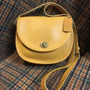 Coach Vintage Yellow Watson Bag #9981